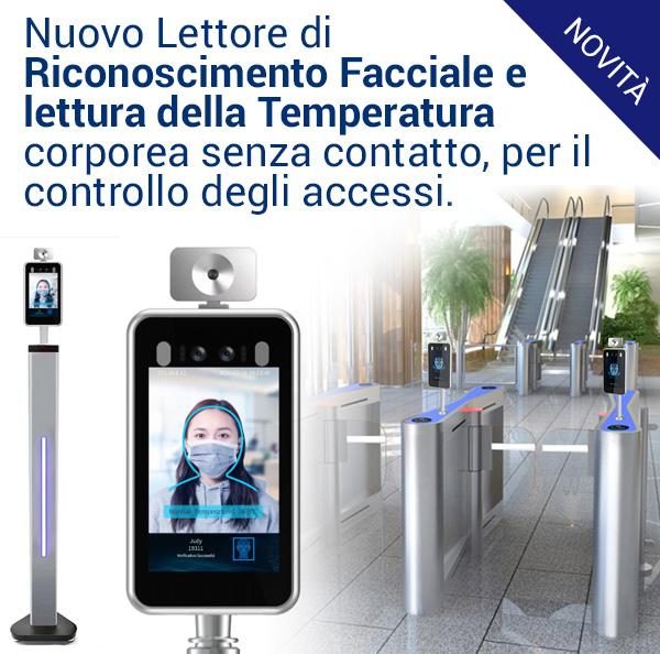 Nuovo Lettore di Riconoscimento Facciale e della temperatura corporea