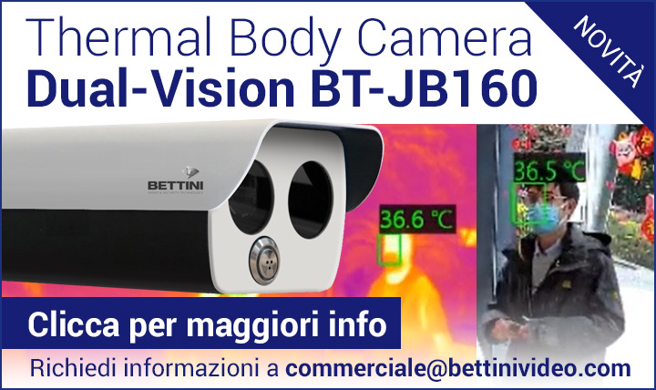 Nuova Thermal Body Camera Dual-Vision BT-JB160